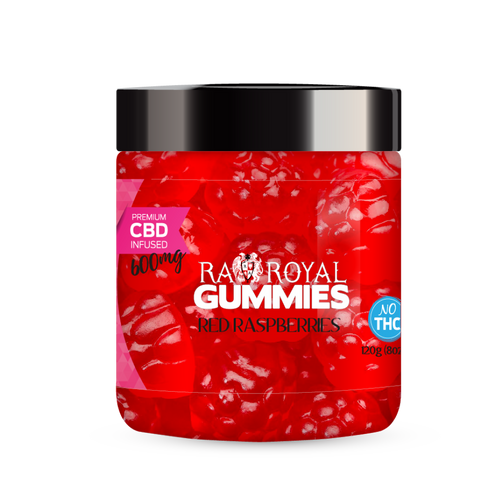 R.A. Royal Gummies – 600MG CBD Infused Red Raspberry