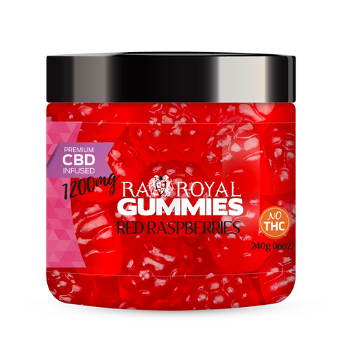 R.A. Royal Gummies – 1200MG CBD Infused Red Raspberry
