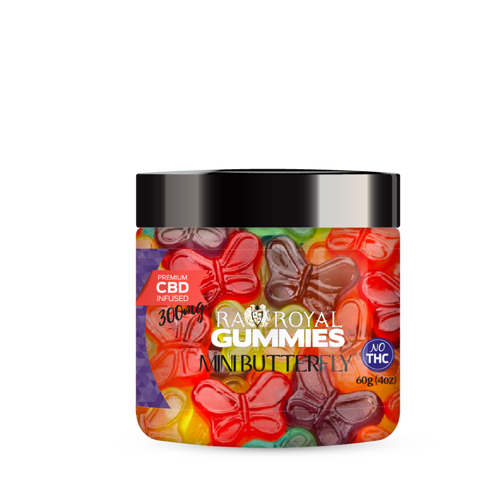 R.A. Royal Gummies – 300MG CBD Infused Mini Butterfly