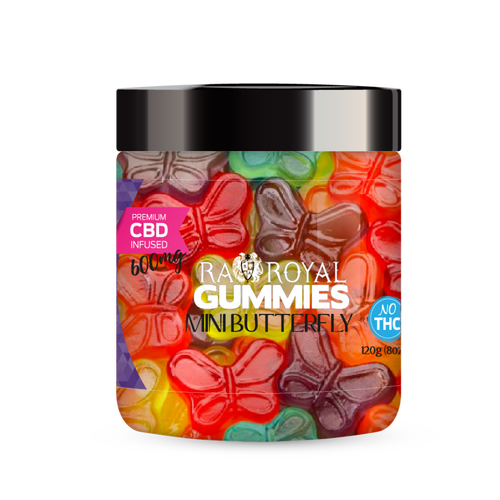 R.A. Royal Gummies – 600MG CBD Infused Mini Butterfly