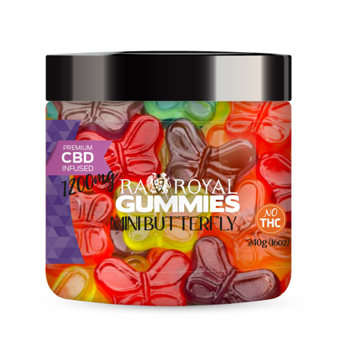 R.A. Royal Gummies – 1200MG CBD Infused Mini Butterfly