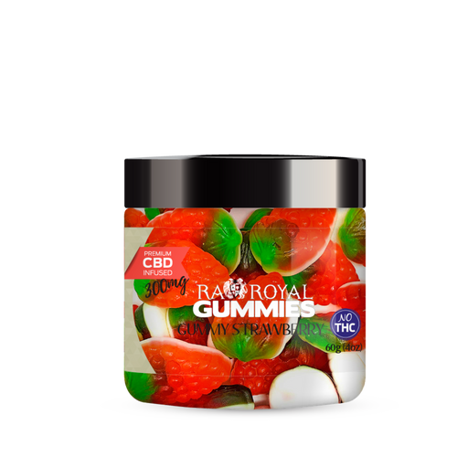 R.A. Royal Gummies – 300MG CBD Infused Foam Strawberry