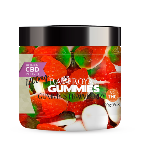R.A. Royal Gummies – 1200MG CBD Infused Foam Strawberry