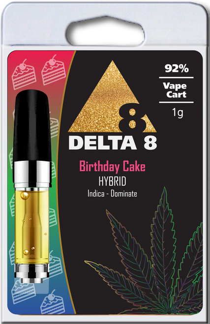 Delta-8 Hybrid Birthday Cake 1ML - 92%