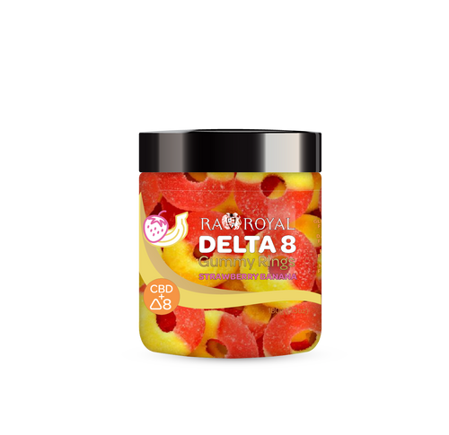 R.A Royal DELTA 8 Gummy Rings - Strawberry Banana