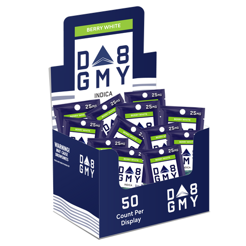 Delta 8 Single Package Gummy's  Berry White – 25MG