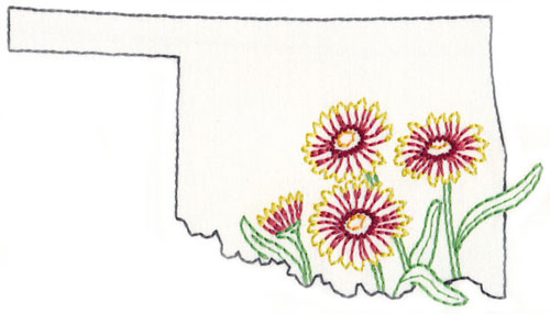 Design 12821-36 Oklahoma Indian Blanket