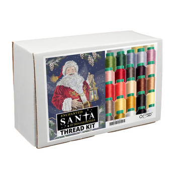 Enchanted Santa Tiling Scene Thread Kit