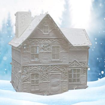 Winter Village Freestanding Victorian House