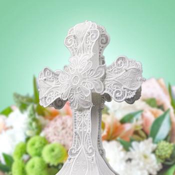 Freestanding Lace Cross