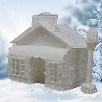 Winter Village Freestanding Quilt Shop & Lamp Post