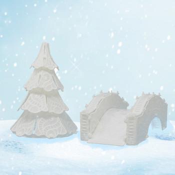 Winter Village Freestanding Bridge & Small Tree