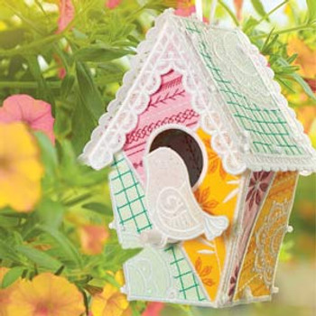 Patchwork Quilt Birdhouse