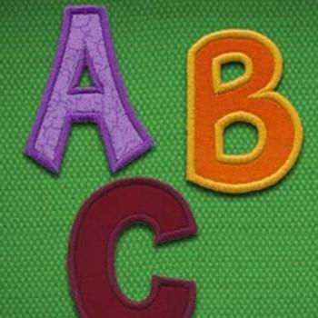Cutie Applique Alphabet