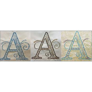 Scrollwork Alphabet