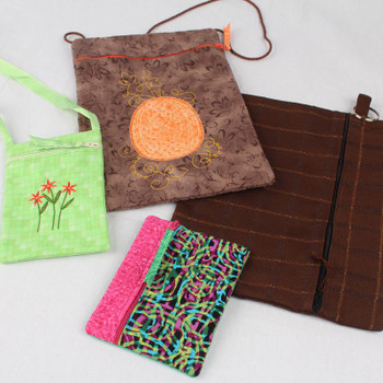 In the Hoop Zippered Pouches