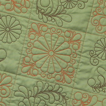 Quilting Feather Daisies