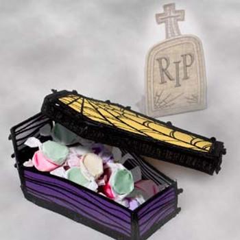 Freestanding Coffin & Tombstone