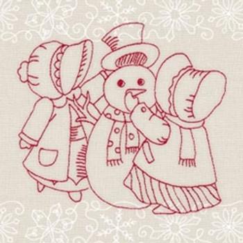 Winter Redwork