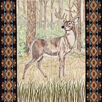 White-tailed Buck Tiling Scene