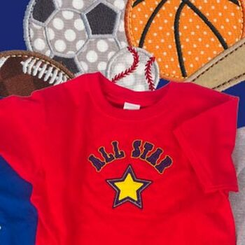 All Star Sports Applique