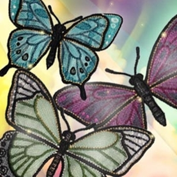 Luminous Freestanding Butterflies