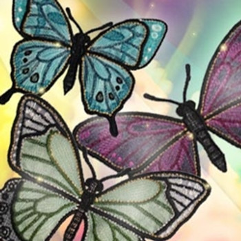 Luminous Freestanding Butterflies