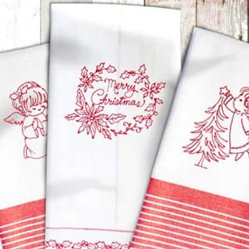 Vintage Christmas Redwork