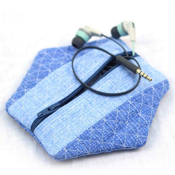 Patchwork Zipper Pouches
