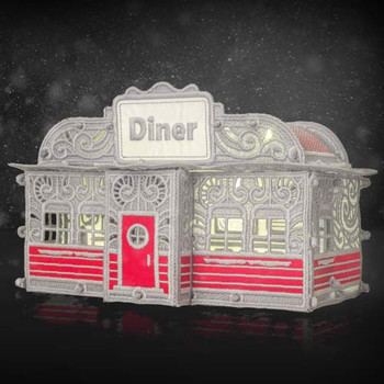 Freestanding Christmas Village Diner
