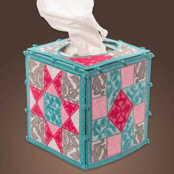 Freestanding Quilter's Tissue Box Cover