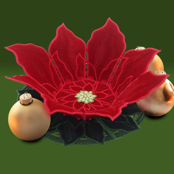 Freestanding Poinsettia Bowl