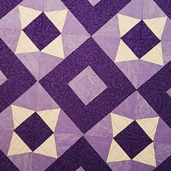 Pieced to Perfection: Purple Stars