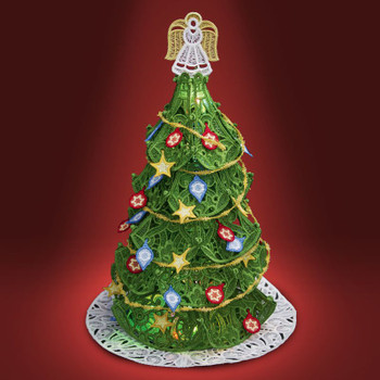 Freestanding Christmas Tree with Ornaments
