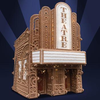 Freestanding Christmas Village Theatre