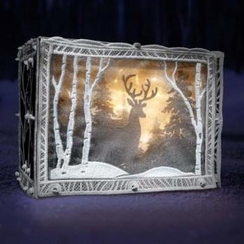 Freestanding Winter Scene Light Box