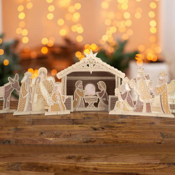 Freestanding Nativity Scene