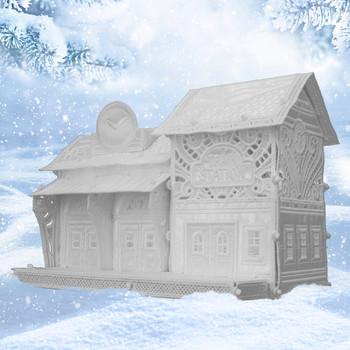 Winter Village Freestanding Train Station