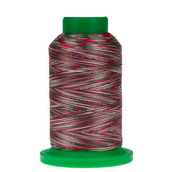 9864 Holly Berry Wreath Isacord Variegated Thread
