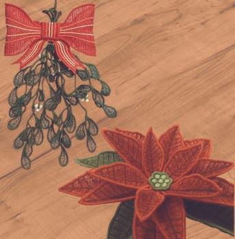 Freestanding Mistletoe and Poinsettia