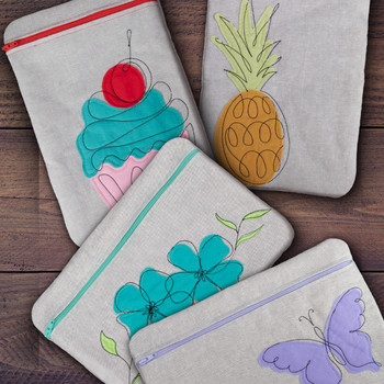 Sassy & Sweet Zipper Pouches