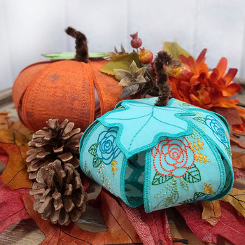 Freestanding Floral Pumpkin Patch