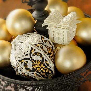 Celebrate the Season Freestanding Lace Ornaments