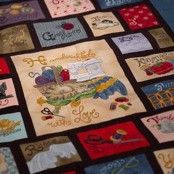 Sewing Quilt by Krista Hamrick