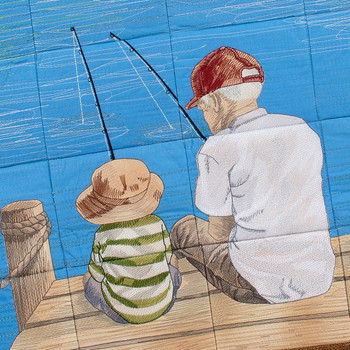 Fishing with Grandpa by Mo's Art Design Studio