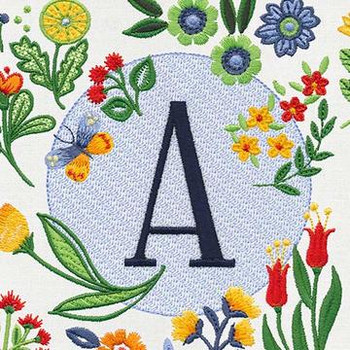 Floral Monogram by Jennifer Brinley