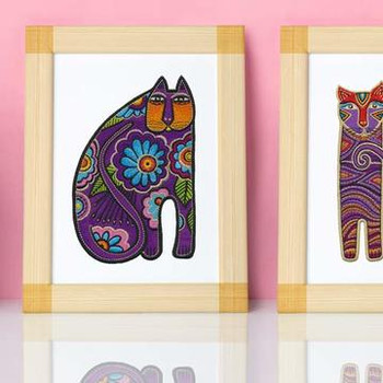 Festive Felines by Laurel Burch