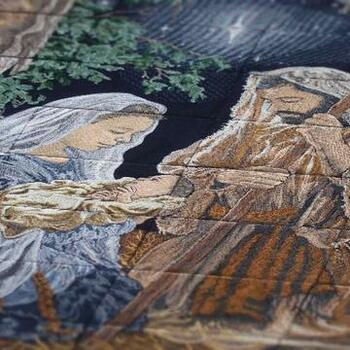 O Holy Night Tiling Scene by Dona Gelsinger