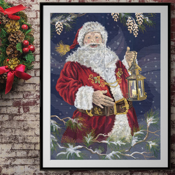 Enchanted Santa Tiling Scene by Dona Gelsinger