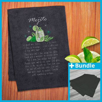 Cocktail Recipe Towels Bundle